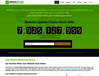 serviceuptime.com screenshot