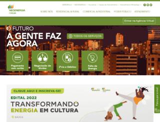 servicos.coelba.com.br screenshot