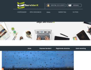 servidorx.com.br screenshot