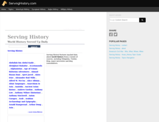 servinghistory.com screenshot