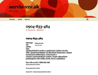 servis-vzv.sk screenshot