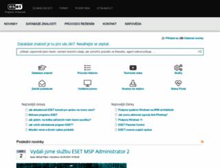 servis.eset.cz screenshot