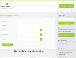 servisourcenursingjobs.ie screenshot