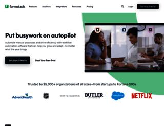 serviz.formstack.com screenshot
