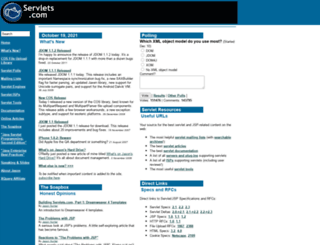 servlets.com screenshot
