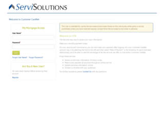 servsol.customercarenet.com screenshot