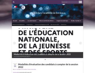 ses.ac-bordeaux.fr screenshot