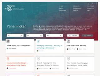 sessions.podcamptoronto.com screenshot