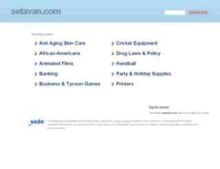setavan.com screenshot
