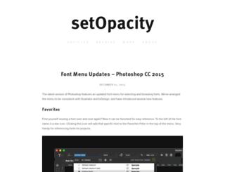 setopacity.com screenshot