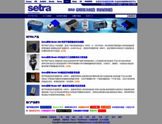 setra.sensorsi.com screenshot
