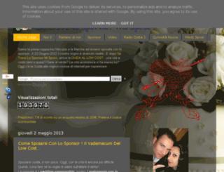 setrovolosponsormisposo.blogspot.it screenshot