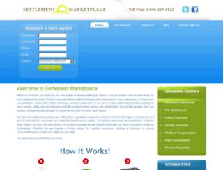 settlementmarketplace.com screenshot