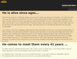 setuhanuman.org screenshot