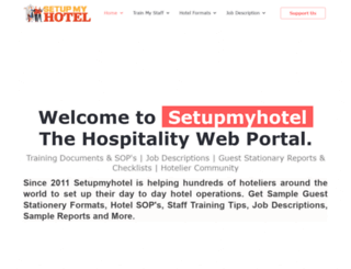 setupmyhotel.com screenshot