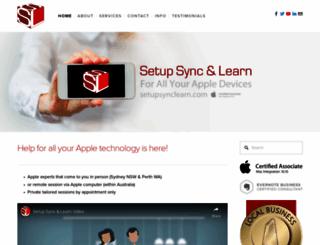 setupsynclearn.com screenshot