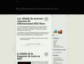seulmaitreabord.info screenshot