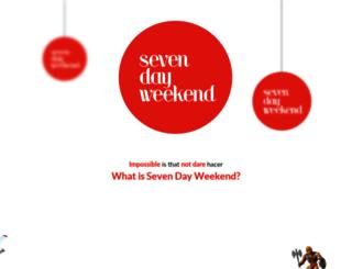 seven-dayweekend.com screenshot