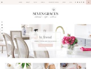 sevengraces.blogspot.com screenshot