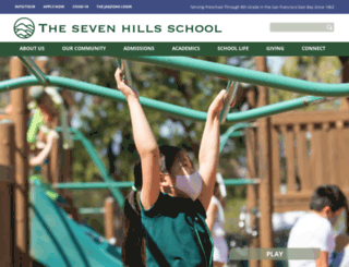 sevenhillsschool.org screenshot