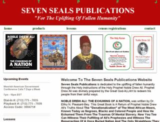 sevensealspublications.com screenshot