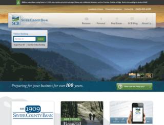 seviercountybank.com screenshot