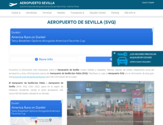 sevilla-airport.com screenshot