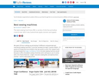 sewing-machine-review.toptenreviews.com screenshot