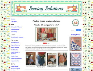 sewing-solutions.com screenshot