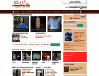 sewing.patternreview.com screenshot