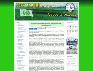 sezionemagenta.leganord.org screenshot