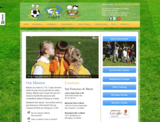 sf.soccerkids.com screenshot