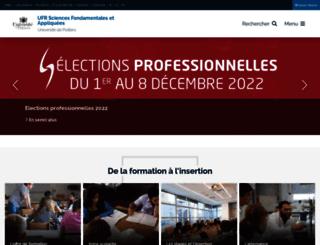 sfa.univ-poitiers.fr screenshot