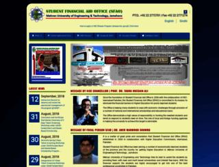 sfao.muet.edu.pk screenshot