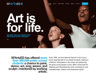 sfartsed.org screenshot