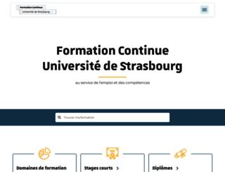 sfc.unistra.fr screenshot