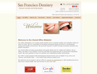sfdentaloffice.com screenshot