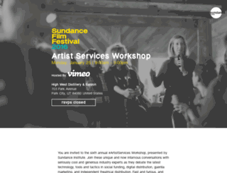 sff16-artistservicesworkshop.splashthat.com screenshot