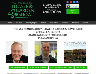 sfgardenshow.com screenshot