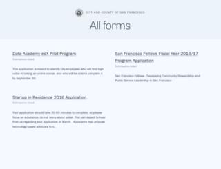 sfgov.forms.fm screenshot