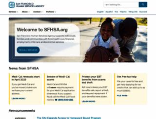 sfhsa.org screenshot