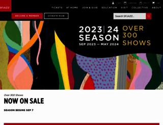 sfjazz.org screenshot