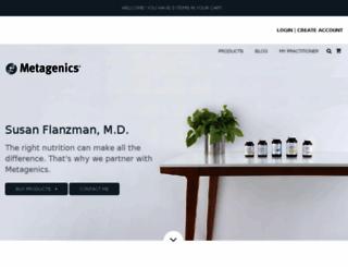sflanzman.metagenics.com screenshot