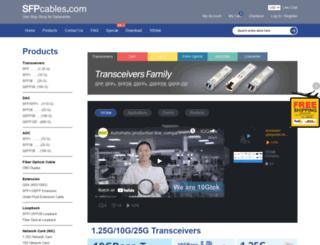 sfpcables.com screenshot