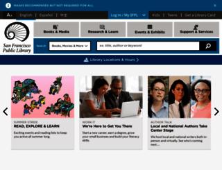sfpl.org screenshot