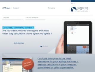 sfr-software.com screenshot