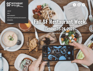 sfrestaurantweek.com screenshot