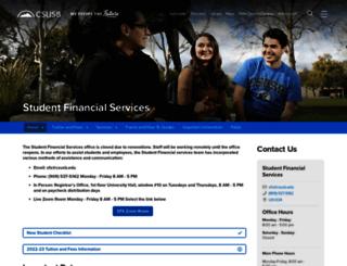 sfs.csusb.edu screenshot