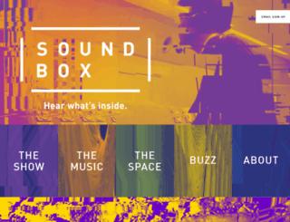 sfsoundbox.com screenshot