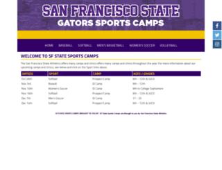 sfstatesportscamps.com screenshot